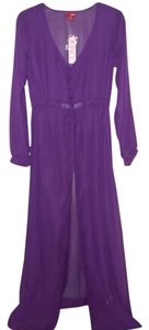 Purple Maxi Dress by Bongo Sheer Gown Negligee