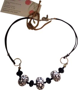 Gem Pat Designs Gem Pat Designs Black Vintage Bead Necklace