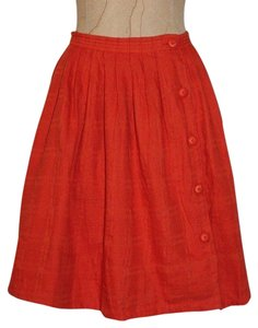 Anthropologie Wrap Summer Skirt ORANGE