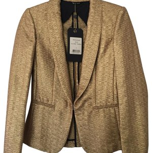 Rag & Bone Gold Blazer