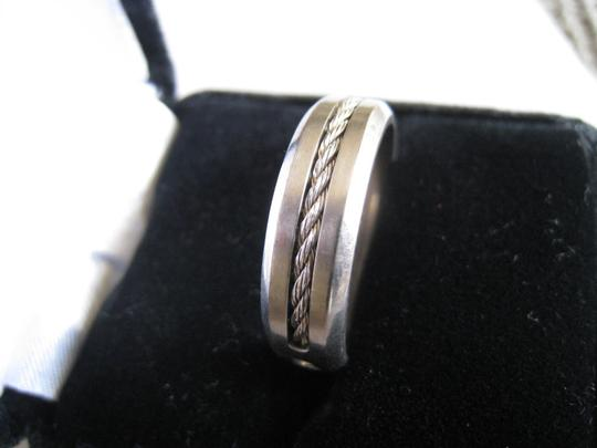 Hearts on Fire Hearts on Fire HOF Commanding Titanium Mens Ideal Cut Diamond Wedding Anniversary Band Ring Size 10 W / Cable Around