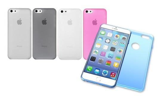 "Other Light Pink - IPhone 6 Plus 5.5"" TPU Rubber Gel Ultra Thin Case Cover Transparent Glossy 10 Colors Available"
