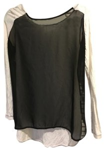 Anthropologie T Shirt Black White