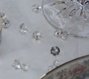 Clear 1500 Diamond/Scatter Pieces Reception Decoration