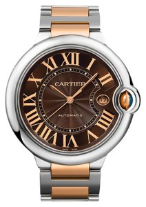 Cartier Cartier Unisex W6920032 Ballon Bleu Chocolate Brown Dial 18K Rose Gold /SS Watch (Brand New)
