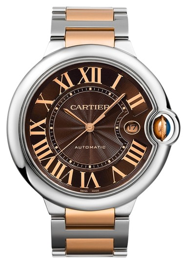 Preload https://item4.tradesy.com/images/cartier-gold-brown-silver-steel-w6920032-ballon-bleu-chocolate-dial-18k-rose-ss-watch-1554393-0-0.jpg?width=440&height=440