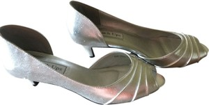 Touch Ups Metallic Kitten Heel Silver Formal
