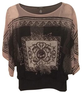 Alfani Top Black, beige
