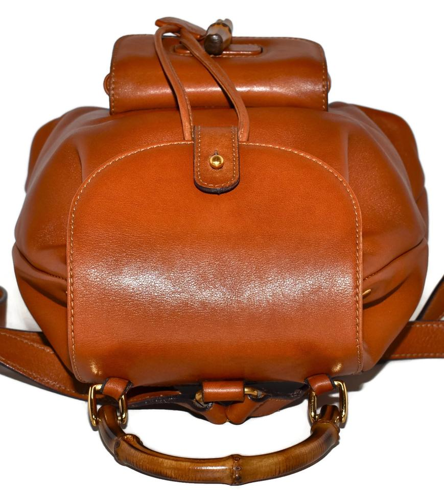 d1bf3b6d7532 Gucci Cognac Calfskin Mini with Bamboo Handles Made In Italy Brown ...