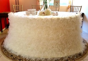 Ruffled Dress Tablecloth Ruffle Tablecloth