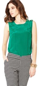 Trina Turk Silk Shell Top Emerald