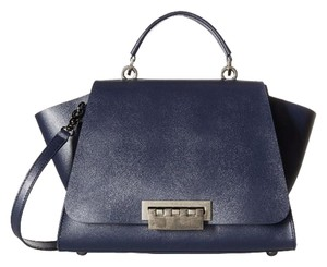 Zac Posen Chic Polyurethane Satchel in Navy