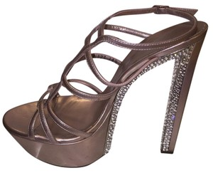 Casadei Rose/pink metallic Platforms