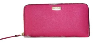 Kate Spade Kate Spade Newbury Lane Neda Desert Rose Pink Saffiano Leather Zip Around Wallet