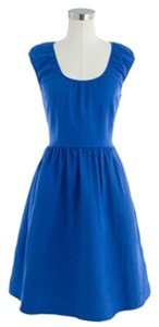 J.Crew short dress Royal Blue Linen on Tradesy
