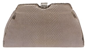 Judith Leiber Leather Grey Clutch