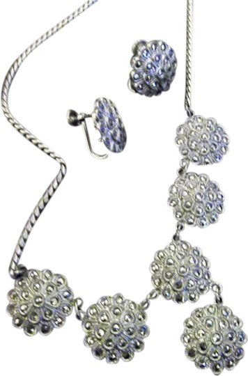 Preload https://img-static.tradesy.com/item/1554581/sterling-silver-marcasite-and-earring-set-necklace-0-0-540-540.jpg