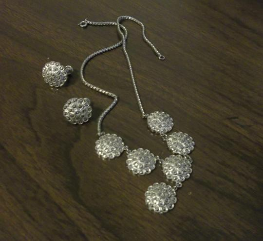 Other Sterling Silver Marcasite Necklace and Earring Set Image 1