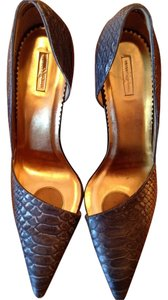 Report Signature Python Snakeskin Nordstrom Gold And Blue Pumps