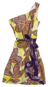 Trina Turk short dress Yellow Orange Paisley Print on Tradesy