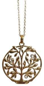 BCBGMAXAZRIA Gold BCBG Tree Circle Necklace