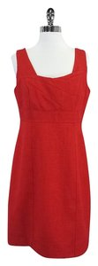 David Meister short dress Red Strucured Sleeveless on Tradesy