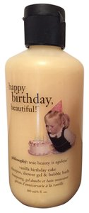 Sephora Philosophy Vanilla Birthday Cake Shampoo Shower Gel Bubble Bath