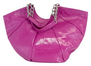 Hobo International Pink Patent Leather Oversized Tote