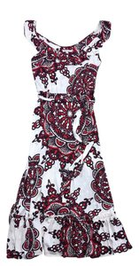 Maxi Dress by Nieves Lavi Multi Color Print Silk Maxi