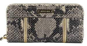 Michael Kors NWT Michael Kors ZA Continental Moxley Dark Sand Python Clutch Wallet