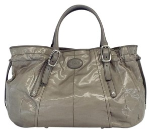 Tod's Grey Canvas Tote
