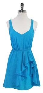 Amanda Uprichard short dress Turquoise Silk Sleeveless on Tradesy