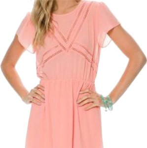 Swell short dress Coral pink on Tradesy