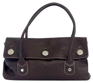 Tanner Krolle Large Brown Pebbled Leather Hobo Bag