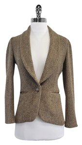 Ralph Lauren Tan Brown Knit Jacket