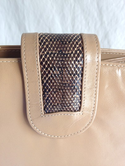 Non No Vintage Vointage Leather Leather Nude Leather Leather Snakeskin Python Watersnake Satchel Classic Shoulder Bag