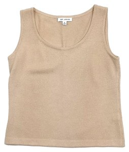 St. John Taupe Knit Top