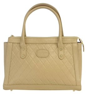 Terzetto Tan Quilted Leather Shoulder Bag