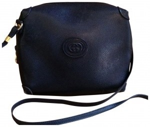 Gucci Vintage Leather Cross Body Bag