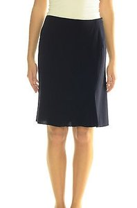 Tahari P Hem Silk Lined Bell Shape Side Zip Skirt Black