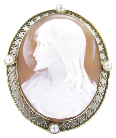 Preload https://img-static.tradesy.com/item/1554797/gold-14kt-solid-yellow-cameo-pin-brooch-jesus-vintage-collectible-religious-13gr-0-0-540-540.jpg