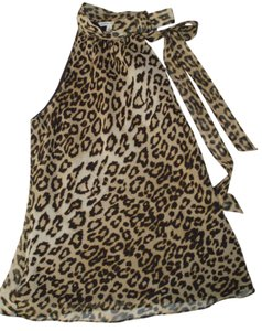 Banana Republic Top multi leopard print
