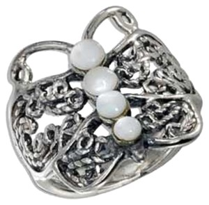 Other Sterling Silver Filigree and Mother of Pearl Butterfly Ring