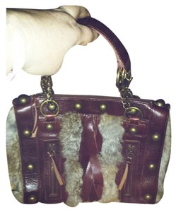 Arden B. #leather #boho Satchel in Burgundy