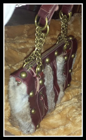 Arden B. #satchel #leather #boho #rarehandbag #studded Satchel in Burgundy