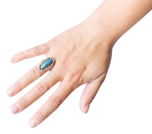 Other Sky Blue Stone Silver Ring