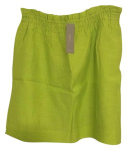 J.Crew Mini Skirt citron yellow