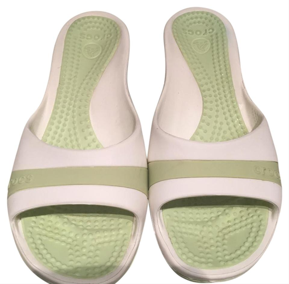 3ab119262 Crocs White and Green (Mint) Wedges Size US 8 Regular (M