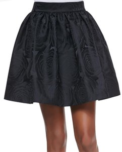 Kate Spade Jacquard Gothic Party Rose Print Mini Skirt Black
