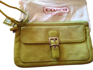 Coach Wristlet in Lime Green